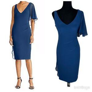 NWT Ralph Lauren Ruffled V-Neck Cocktail Dress